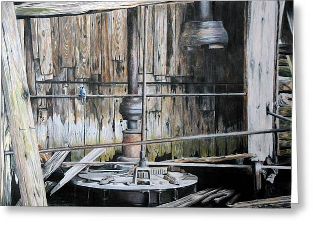 Machinery Drawings Greeting Cards - The Forgotten Mill Greeting Card by Duncan  Way