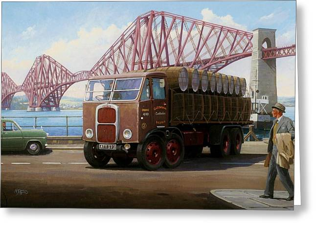 Number One Greeting Cards - The Forth Bridge Greeting Card by Mike  Jeffries