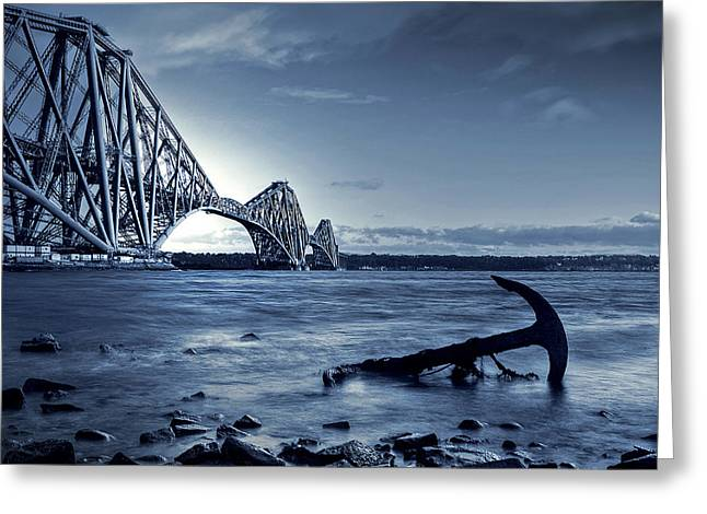 Sundown Framed Prints Greeting Cards - The Forth Rail Bridge Scotland Greeting Card by Amanda Finan