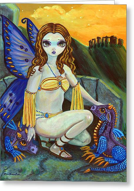 Fairies Greeting Cards - The Foundlings Greeting Card by Lyn Cook