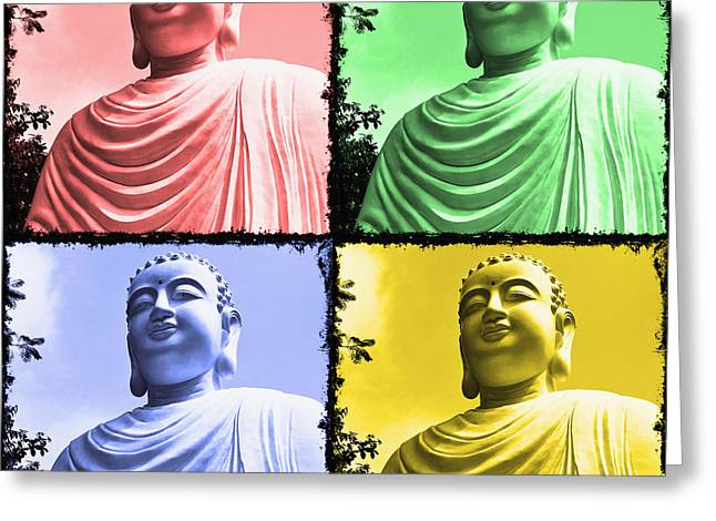 No Limits Greeting Cards - The Four Buddhas Greeting Card by Skip Nall