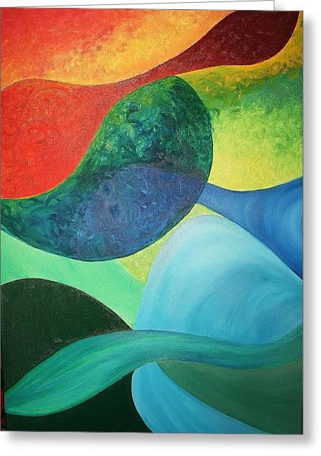 The Four Elements Greeting Card by Derya  Aktas