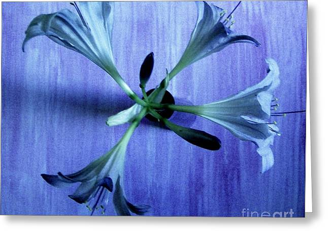Blueish Greeting Cards - The Four Trumpets Greeting Card by Marsha Heiken