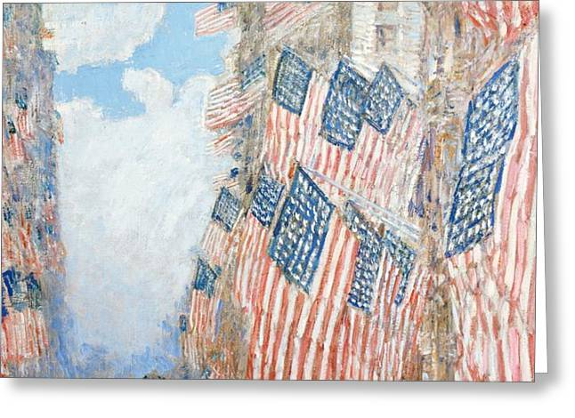 The Fourth of July Greeting Card by Childe Hassam