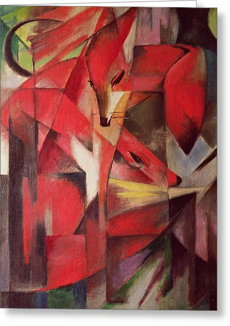 Best Sellers -  - Abstract Expressionist Greeting Cards - The Fox Greeting Card by Franz Marc