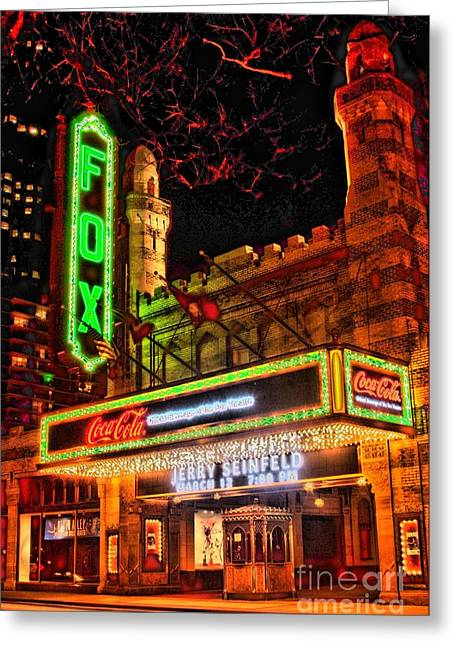 Photographers Decatur Greeting Cards - The Fox Theater Atlanta Ga. Greeting Card by Corky Willis Atlanta Photography