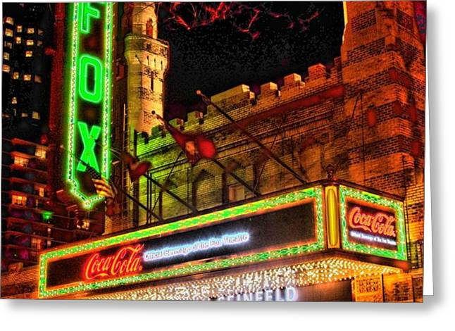 The Fox Theater Atlanta Ga. Greeting Card by Corky Willis Atlanta Photography