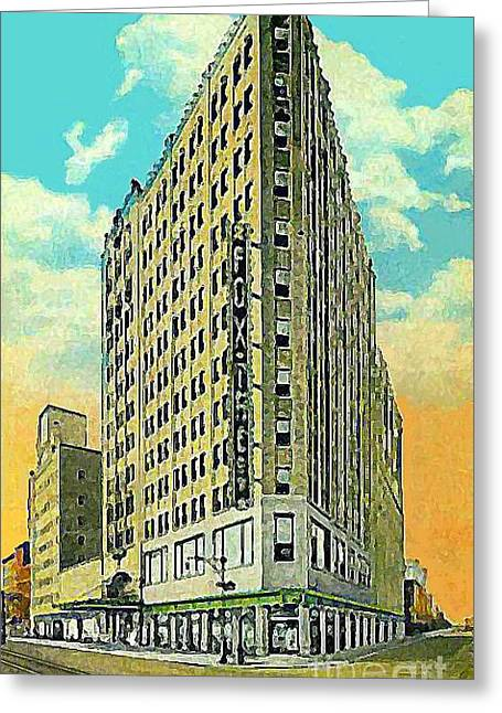 Theater Jewelry Greeting Cards - The Fox Theatre Building In Brooklyn N Y In The 1930s Greeting Card by Dwight Goss