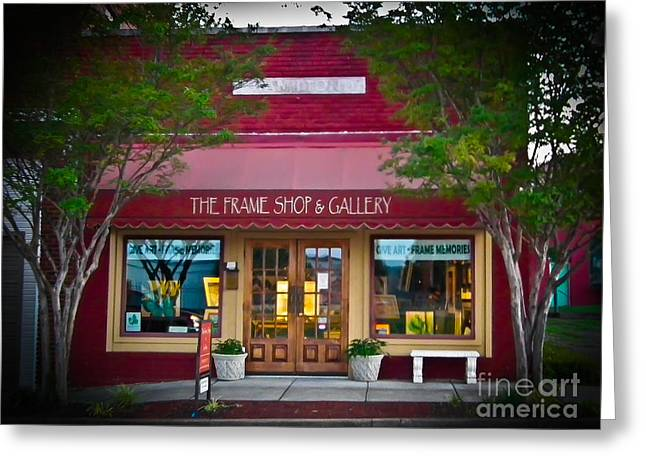 Russellville Arkansas Greeting Cards - The Frame Shop and Gallery Greeting Card by Tammy Chesney