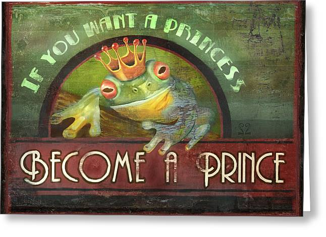 Payne Greeting Cards - The Frog Prince Greeting Card by Joel Payne