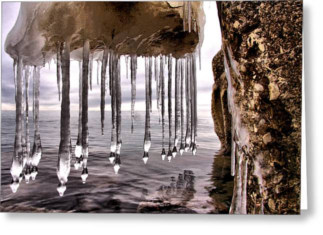Russ Styles Greeting Cards - The Frozen Veil Greeting Card by Russell Styles