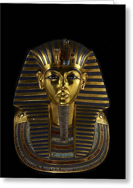 Pharaoh Greeting Cards - The Funerary Mask Of King Tutankhamun Greeting Card by Kenneth Garrett