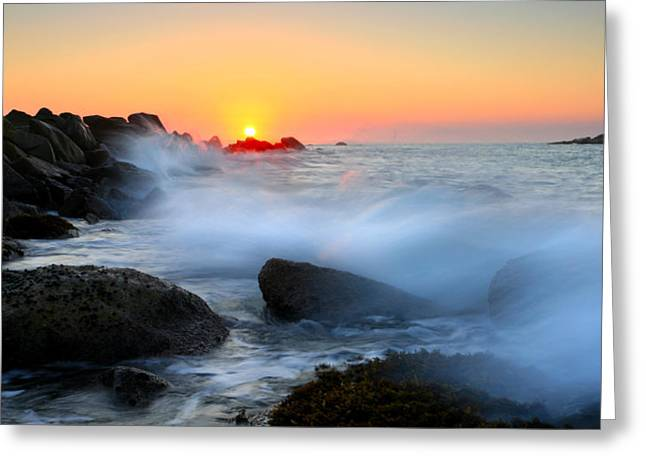 Fleurieu Peninsula Greeting Cards - The Fury of the Sea Greeting Card by Mike  Dawson