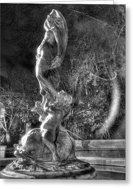 Galatea Greeting Cards - The Galatea Statue side view Greeting Card by Studio Ecosse