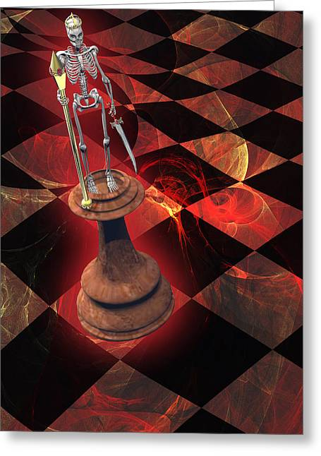 Chess Piece Digital Greeting Cards - The Game of Kings Greeting Card by Carol and Mike Werner