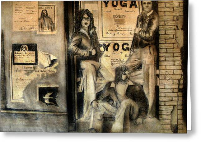 Store Fronts Drawings Greeting Cards - The Gang Greeting Card by Albert Puskaric
