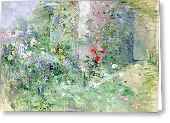 Garden Scene Greeting Cards - The Garden at Bougival Greeting Card by Berthe Morisot