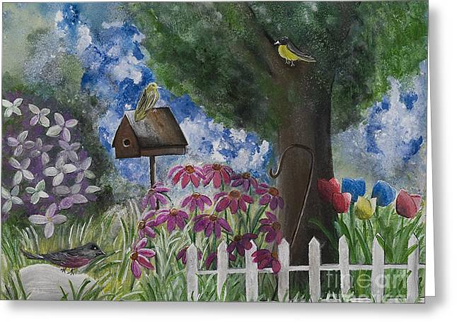 The Garden Greeting Card by Barbara McNeil