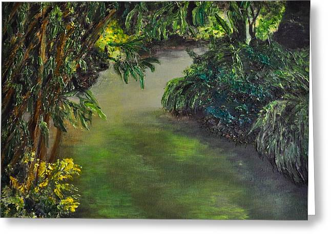 Stein Paintings Greeting Cards - The Garden Greeting Card by Carla Stein