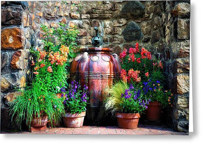 The Garden Cistern Greeting Card by Bill Cannon
