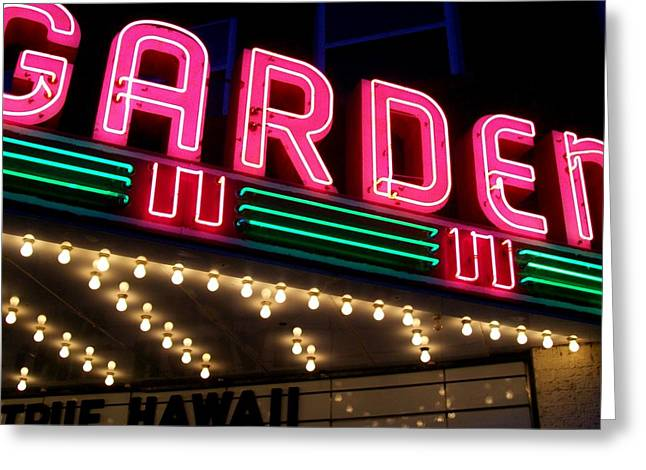 Movie Theatre Greeting Cards - The Garden Frankfort MI Greeting Card by Michelle Calkins