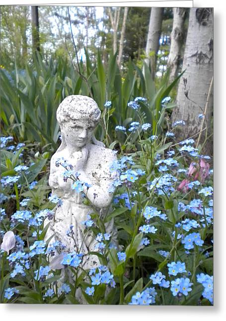 Garden Statuary Greeting Cards - The Garden of Eden Greeting Card by Renate Nadi Wesley