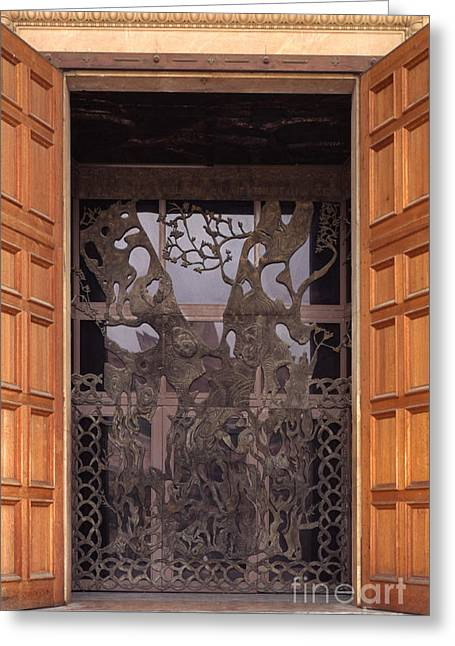 Olive Grove Greeting Cards - The Garden of Gethsemane Church Doors Greeting Card by Thomas R Fletcher