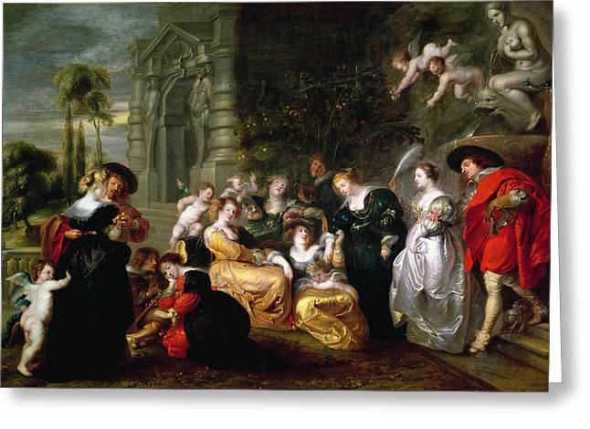 Best Sellers -  - Peter Paul (1577-1640) Greeting Cards - The Garden of Love Greeting Card by Peter Paul Rubens