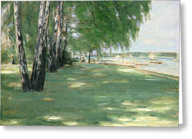 Park Scene Greeting Cards - The Garden of the Artist in Wannsee Greeting Card by Max Liebermann