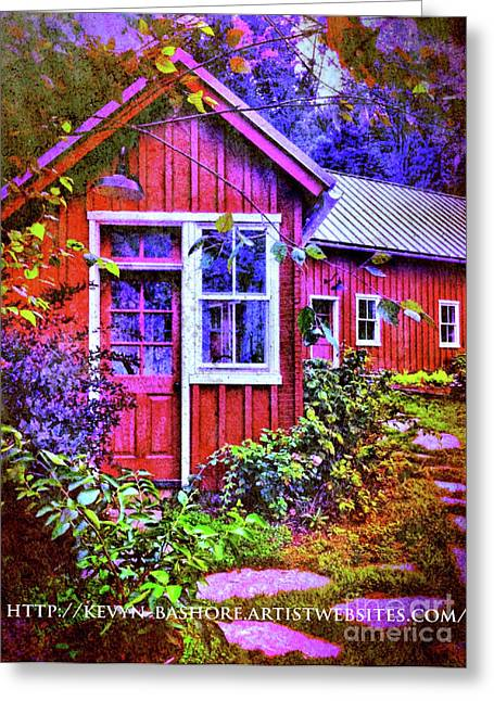The Garden Path Greeting Card by Kevyn Bashore
