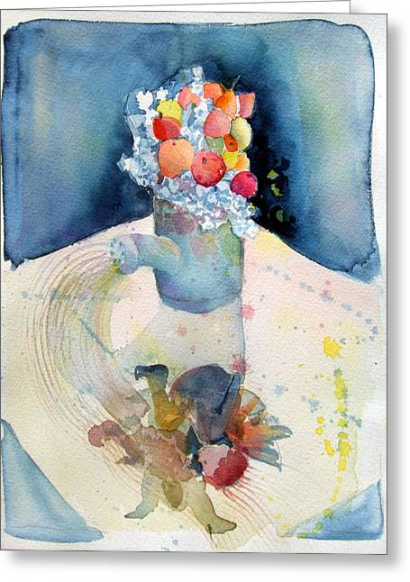 Canned Fruit Greeting Cards - The Garden Watering Can Greeting Card by Mindy Newman