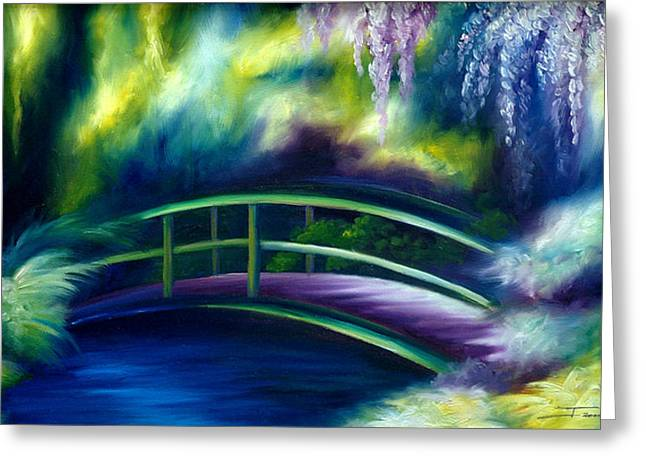 James Christopher Hill Greeting Cards - The Gardens of Givernia Greeting Card by James Christopher Hill