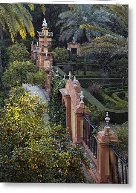 Krista Greeting Cards - The Gardens Of The Alcazar Palace Greeting Card by Krista Rossow