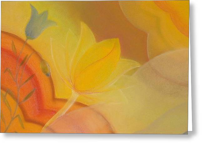 Spirituality Pastels Greeting Cards - the Gate to the Kingdom of Heaven Greeting Card by Saskia Symens