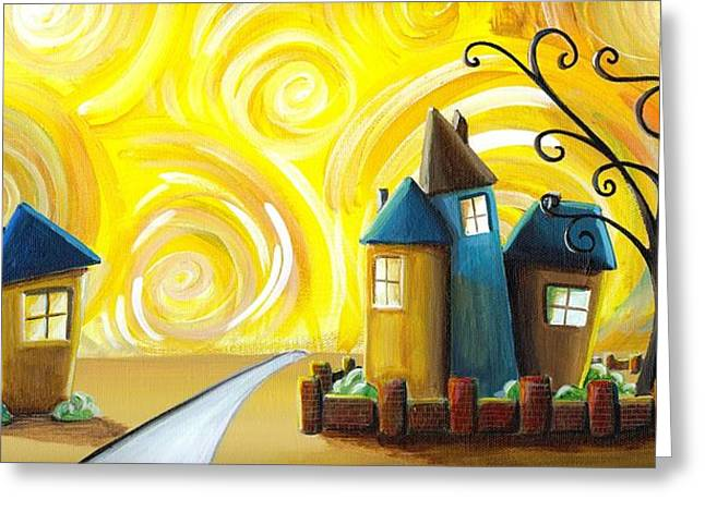 Neighborhoods Greeting Cards - The Gated Community Greeting Card by Cindy Thornton