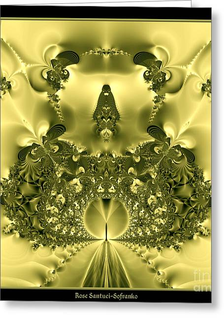 Pearly Gates Greeting Cards - The Gates of Heaven Fractal 66 Greeting Card by Rose Santuci-Sofranko