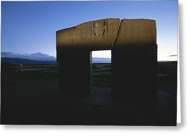 Antiquities And Artifacts Greeting Cards - The Gateway Of The Sun, Once A Sacred Greeting Card by Kenneth Garrett