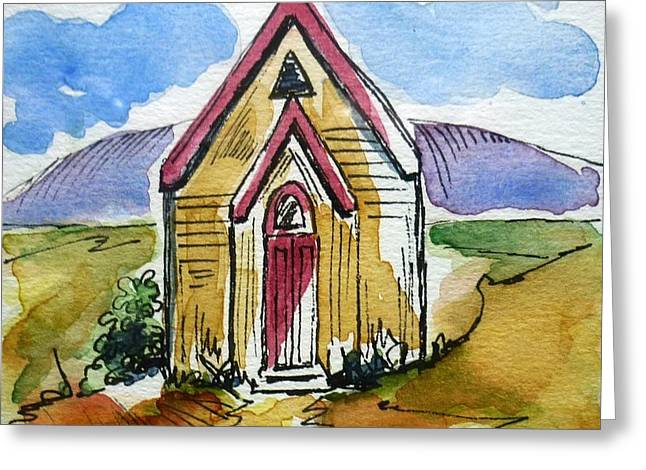The Gathering Place Greeting Card by Therese Alcorn