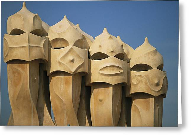 Art Of Building Greeting Cards - The Gaudi Designed Building Casa Mila Greeting Card by Michael Melford