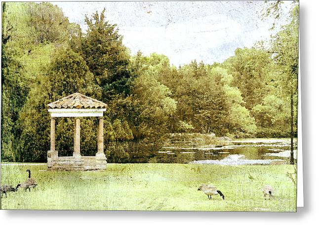Oklahoma Landscape Greeting Cards - The Gazebo  Greeting Card by Ann Powell