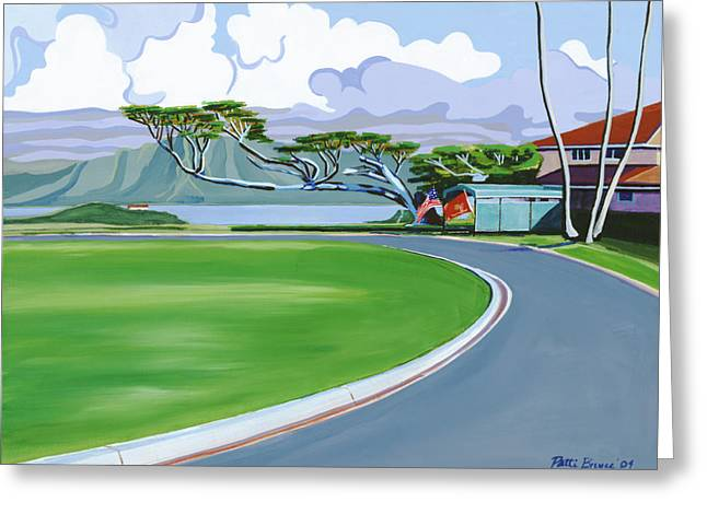 Roadway Paintings Greeting Cards - The Generals House Greeting Card by Patti Bruce - Printscapes