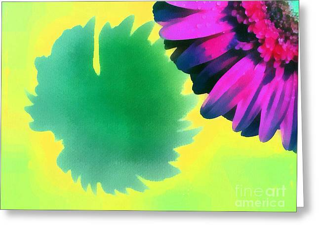 Best Sellers -  - Gold Lame Greeting Cards - The gerbera Greeting Card by Odon Czintos