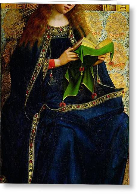 Virgin Greeting Cards - The Ghent Altarpiece The Virgin Mary Greeting Card by Jan and Hubert Van Eyck