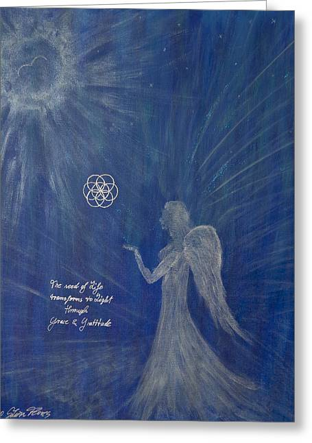 Tranformational Art Greeting Cards - The Gift of Spirit Greeting Card by Silvia Flores