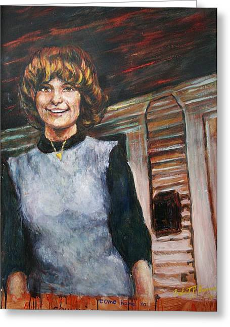 Stoneware Paintings Greeting Cards - The Girl He Couldnt Come Home To Greeting Card by Robert Buono