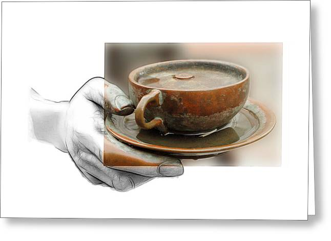 Photographs Drawings Greeting Cards - The giving hand Greeting Card by Stefan Kuhn
