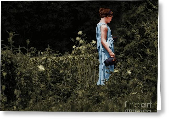 Water Pitcher Greeting Cards - The Gladiators Wife Greeting Card by Susan Isakson