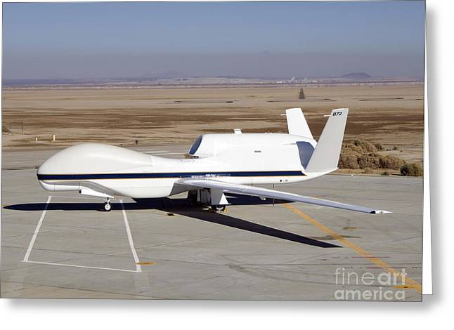 Global Hawk Greeting Cards - The Global Hawk Unmanned Aircraft Greeting Card by Stocktrek Images