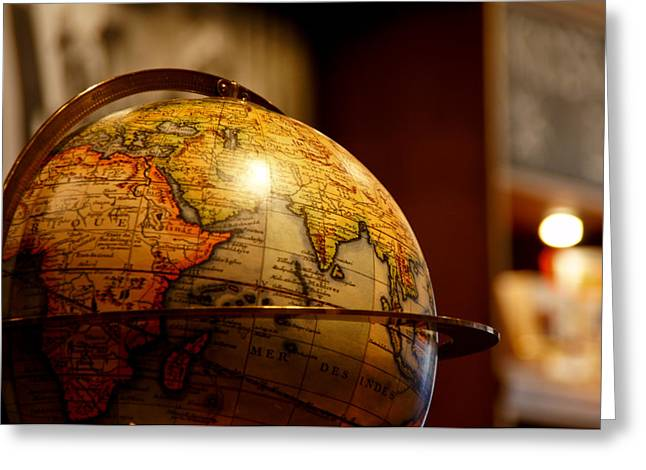 Maps Globes Greeting Cards - The Globe Greeting Card by Edward Myers