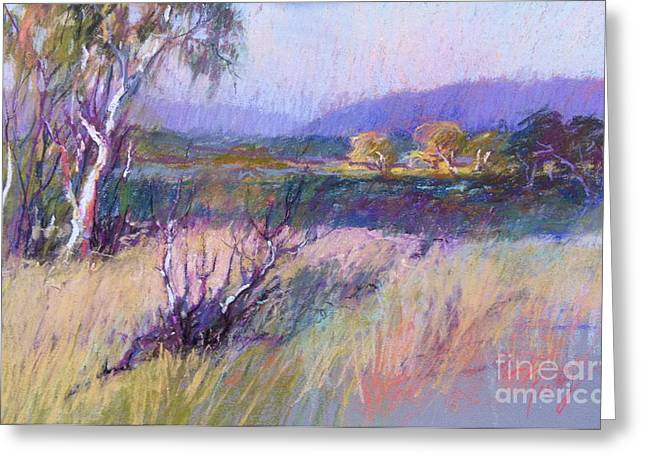 Wetlands Pastels Greeting Cards - The Glow Greeting Card by Pamela Pretty
